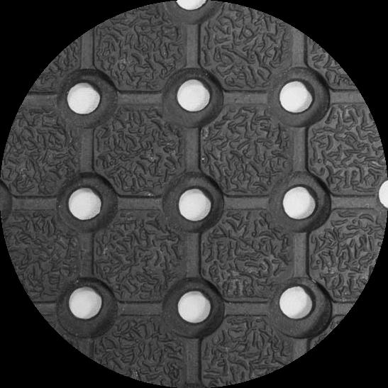Покрытие резиновое противоскользящее грязезащитное со сквозными отверстиями