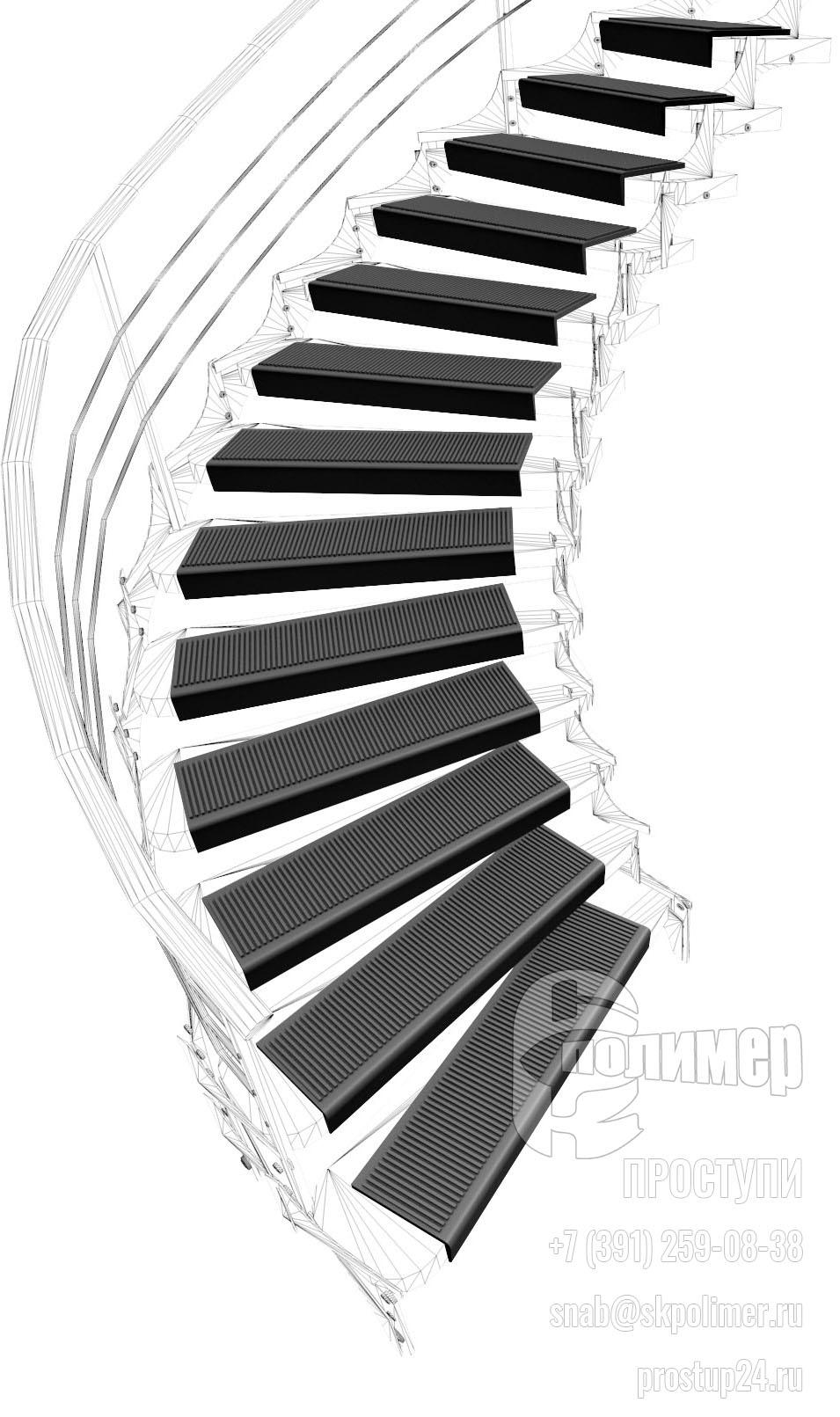 проступь лестничная накладка
