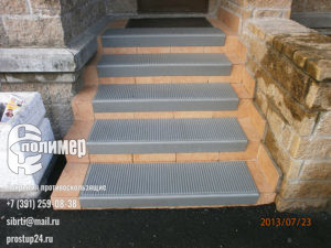 проступи серые на лестнице