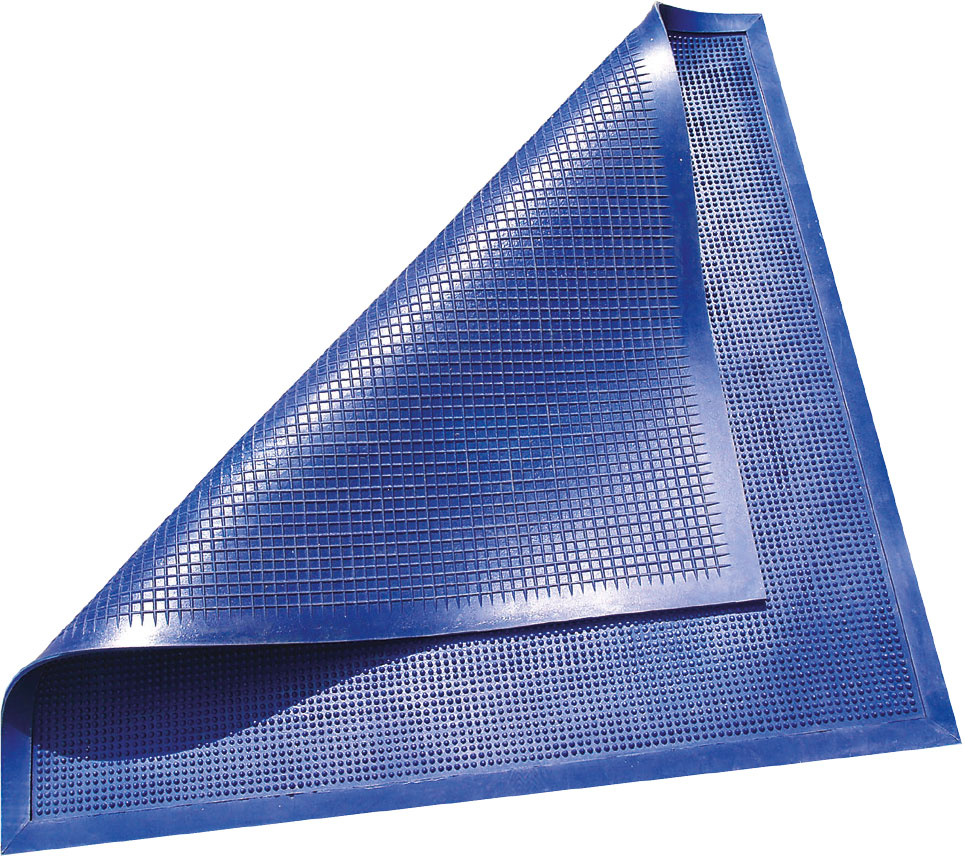 Коврик грязезащитный двухсторонний синий