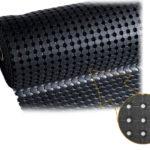 Коврик противоскользящий в рулоне резиновый с отверстиями 1000х10000х10 Черный; «STEP»