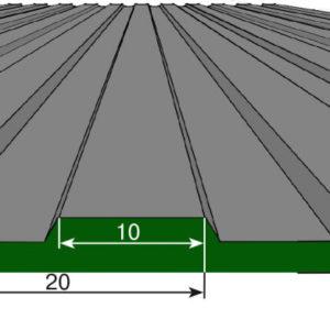 Рулонная напольная грязезащитная дорожка — Продольное мелкое рифление. 1500; Цветное