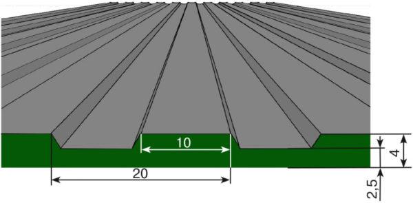 покрытие резиновое в разрезе