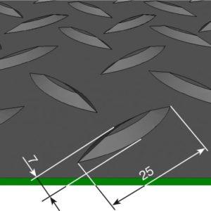Рулонное покрытие для пола грязезащитное — Елочное рифление. 1000; 1200; 1250; Черное
