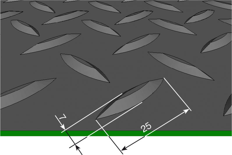 резиновое покрытие рулонное с елочным рисунком
