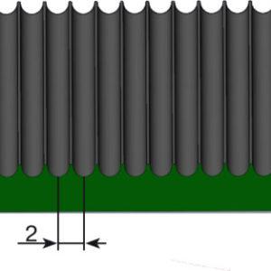 Рулонные напольные Противоскользящие дорожки — Продольное мелкое рифление. 1000; 1200; 1250; Черное