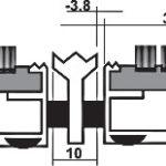 Придверная грязезащитная металлическая решетка высокая 23мм. Щетка/Скребок