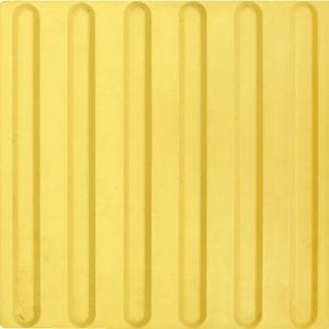 Тактильная плитка 300х300х8.7 Резиновая — продольное рифление
