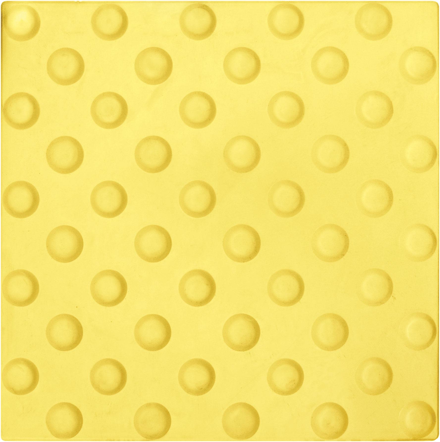 Тактильная плитка 300х300х8.7 Резиновая — круглое (пятачковое / монеточное) рифление