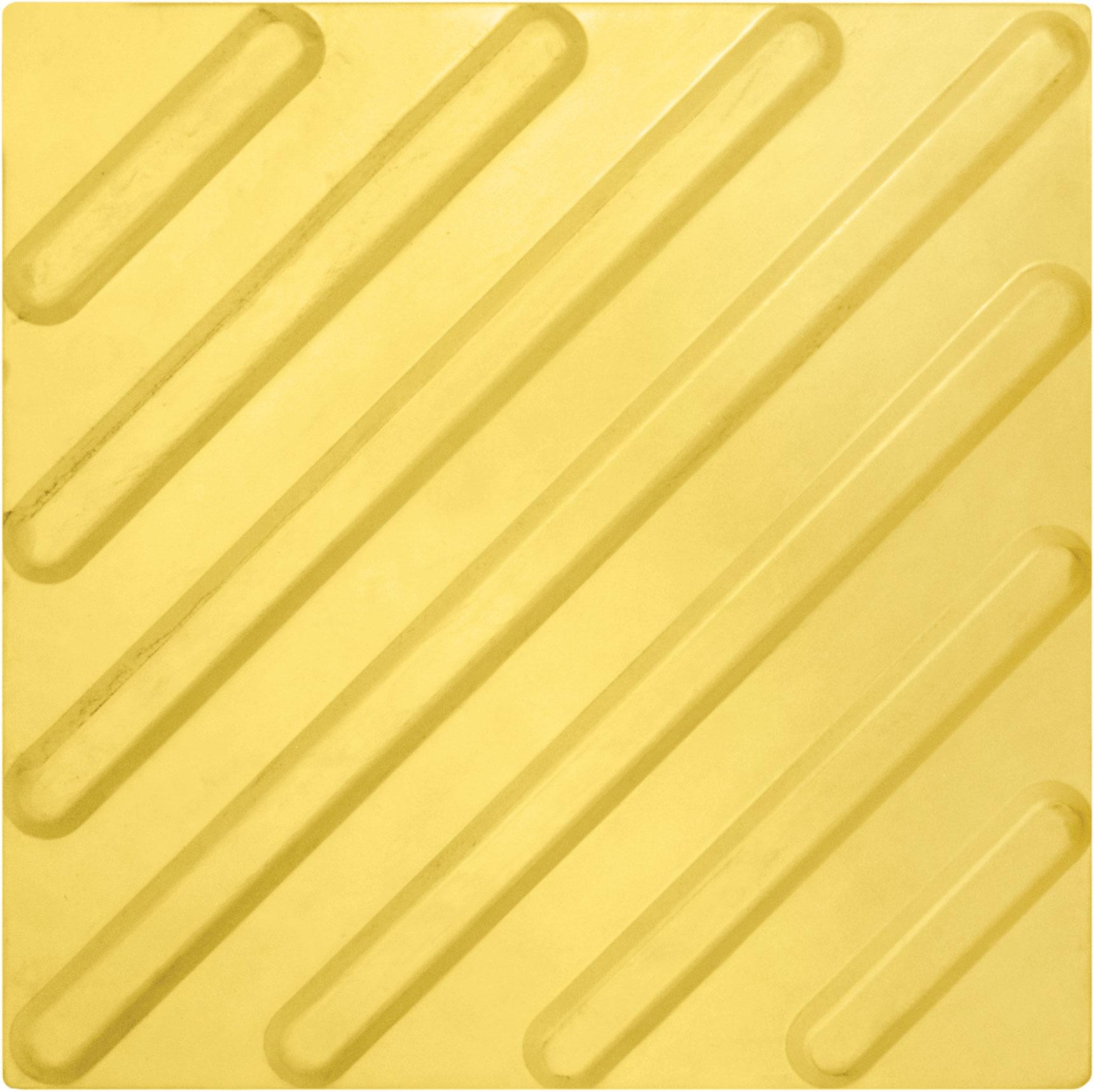 Тактильная плитка 300х300х8.7 Резиновая — косое рифление