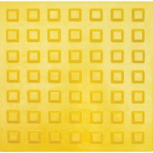 Тактильная плитка 300х300х8.7 Резиновая — квадратное рифление