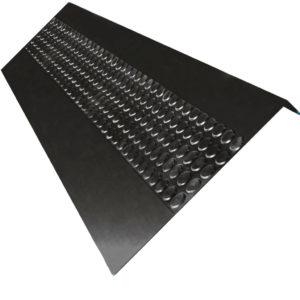 Накладка на ступень (Проступь) Удлиненная Пятачковая1200x317x30 Черная
