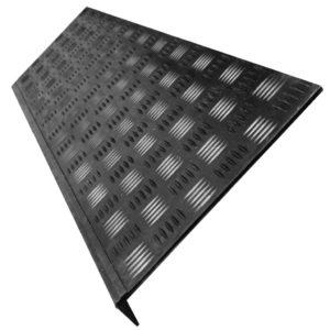 Накладка на ступень (Проступь) Удлиненная Елочная 1200x300x30 Черная