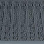 Напольный грязезащитный резиновый ковер «Волна» 1000х1100 Черный