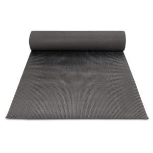 Резиновое напольное  рулонное покрытие — Среднее рифление. 1000; 1200; 1250; 1500 Черное