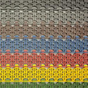 Модульное ячеистое грязезащитное покрытие 390х52х10
