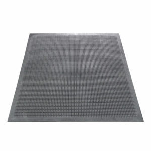 Напольный грязезащитный резиновый ковер «Шипы» 800х800 Черный вафельный двусторонний