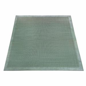 Напольный грязезащитный резиновый ковер «Шипы» 800х800 Цветной вафельный двухсторонний