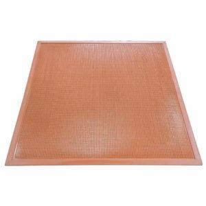 Напольный грязезащитный резиновый ковер «Шипы» 450х750 Цветной
