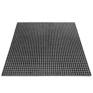 Коврик грязесобирающий резиновый с отверстиями 1011х1011х20 Черный; Мелкоячеистый