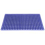 Коврик грязезащитный резиновый с отверстиями 400х600х16;12 Цветной