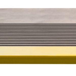 Накладка на ступень (Проступь) Удлиненная продольное рифление 1200x300x30 Светофор (Серая)