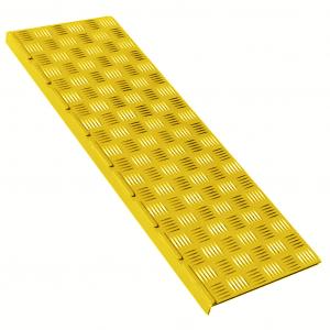 Накладка на ступень (Проступь) Малая 740х250х30 Желтая, Шоко
