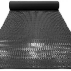 Противоскользящее напольное покрытие резиновое в рулоне- Пятачковое рифление. 1000; 1200; 1250; Черное